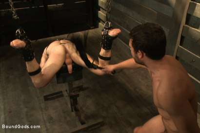 Photo number 9 from Sermon Not Semen! shot for Bound Gods on Kink.com. Featuring Hayden Richards and Doug Acre in hardcore BDSM & Fetish porn.