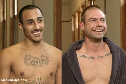 Photo number 15 from Twice the edging, twice the cum with Rico and John shot for Men On Edge on Kink.com. Featuring Rico Romero and John Jammen in hardcore BDSM & Fetish porn.