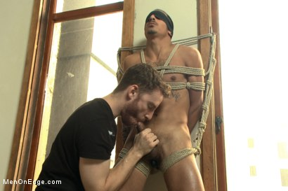 Photo number 8 from Twice the edging, twice the cum with Rico and John shot for Men On Edge on Kink.com. Featuring Rico Romero and John Jammen in hardcore BDSM & Fetish porn.