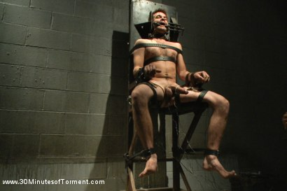 Photo number 8 from Straight stud James Riker tossed around like a rag doll shot for 30 Minutes of Torment on Kink.com. Featuring James Riker in hardcore BDSM & Fetish porn.