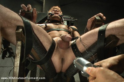 Photo number 9 from Straight stud James Riker tossed around like a rag doll shot for 30 Minutes of Torment on Kink.com. Featuring James Riker in hardcore BDSM & Fetish porn.