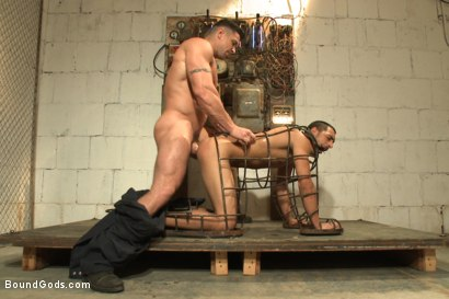 Photo number 6 from Creepy handyman choke fucks an unwilling student in bondage shot for Bound Gods on Kink.com. Featuring Rico Romero and Trenton Ducati in hardcore BDSM & Fetish porn.