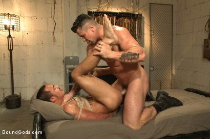 Photo number 12 from Creepy handyman choke fucks an unwilling student in bondage shot for Bound Gods on Kink.com. Featuring Rico Romero and Trenton Ducati in hardcore BDSM & Fetish porn.