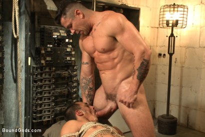Photo number 14 from Creepy handyman choke fucks an unwilling student in bondage shot for Bound Gods on Kink.com. Featuring Rico Romero and Trenton Ducati in hardcore BDSM & Fetish porn.