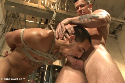 Photo number 9 from Creepy handyman choke fucks an unwilling student in bondage shot for Bound Gods on Kink.com. Featuring Rico Romero and Trenton Ducati in hardcore BDSM & Fetish porn.