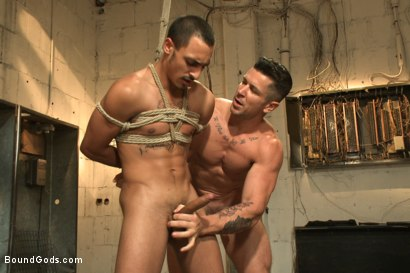 Photo number 8 from Creepy handyman choke fucks an unwilling student in bondage shot for Bound Gods on Kink.com. Featuring Rico Romero and Trenton Ducati in hardcore BDSM & Fetish porn.