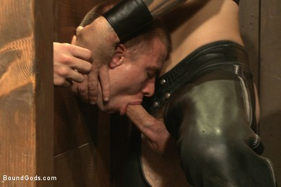 Photo number 11 from A pain slut and a newcomer - Live Show shot for Bound Gods on Kink.com. Featuring Van Darkholme, Christian Wilde, Doug Acre and Eli Hunter in hardcore BDSM & Fetish porn.