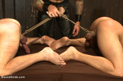 Photo number 13 from A pain slut and a newcomer - Live Show shot for Bound Gods on Kink.com. Featuring Van Darkholme, Christian Wilde, Doug Acre and Eli Hunter in hardcore BDSM & Fetish porn.