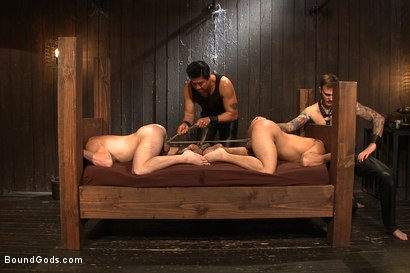 Photo number 12 from A pain slut and a newcomer - Live Show shot for Bound Gods on Kink.com. Featuring Van Darkholme, Christian Wilde, Doug Acre and Eli Hunter in hardcore BDSM & Fetish porn.