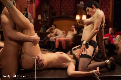 Photo number 11 from Young Slut Fucked and Tossed Out, and Big Tit Consort Takes Charge shot for The Upper Floor on Kink.com. Featuring Bill Bailey, Dallas Blaze and Iona Grace in hardcore BDSM & Fetish porn.