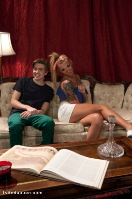 Photo number 15 from Step Sister has a Cock and He wants to taste it shot for TS Seduction on Kink.com. Featuring Aubrey Kate and Kam Rider in hardcore BDSM & Fetish porn.