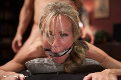 Photo number 12 from The Anal Training of a Domestic MILF, Final Day shot for The Training Of O on Kink.com. Featuring Simone Sonay and Mr. Pete in hardcore BDSM & Fetish porn.
