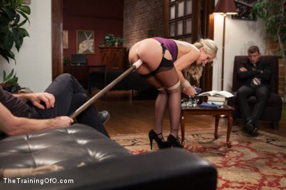 Photo number 3 from The Anal Training of a Domestic MILF, Final Day shot for The Training Of O on Kink.com. Featuring Simone Sonay and Mr. Pete in hardcore BDSM & Fetish porn.