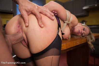 Photo number 9 from The Anal Training of a Domestic MILF, Final Day shot for The Training Of O on Kink.com. Featuring Simone Sonay and Mr. Pete in hardcore BDSM & Fetish porn.