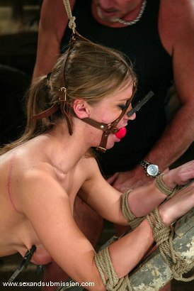 Photo number 8 from Mark Davis and Rita Faltoyano shot for Sex And Submission on Kink.com. Featuring Rita Faltoyano and Mark Davis in hardcore BDSM & Fetish porn.