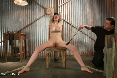 Photo number 6 from Beaten into submission shot for Sadistic Rope on Kink.com. Featuring Nerine Mechanique in hardcore BDSM & Fetish porn.