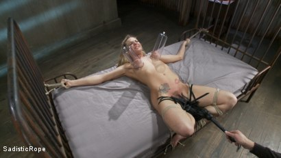 Photo number 13 from Dahlia Sky endures extreme bondage and brutal torture! shot for Sadistic Rope on Kink.com. Featuring Dahlia Sky in hardcore BDSM & Fetish porn.