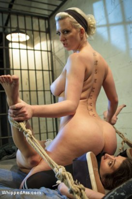 Photo number 14 from Lesbian Inmate Hazing shot for Whipped Ass on Kink.com. Featuring Cherry Torn and Serena Blair in hardcore BDSM & Fetish porn.