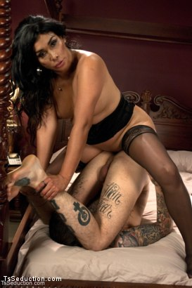 Photo number 13 from Blink and Your Ass is full of her cock - Vaniity the Mighty. shot for TS Seduction on Kink.com. Featuring Vaniity and Ruckus in hardcore BDSM & Fetish porn.