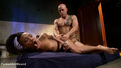 Photo number 7 from Black Pussy Punishment shot for  on Kink.com. Featuring Derrick Pierce and Nikki Darling in hardcore BDSM & Fetish porn.