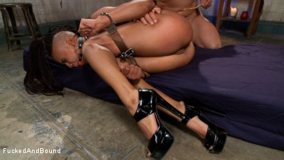 Photo number 14 from Black Pussy Punishment shot for  on Kink.com. Featuring Derrick Pierce and Nikki Darling in hardcore BDSM & Fetish porn.