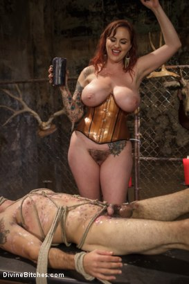 Photo number 11 from Mz. Berlin Humiliates, Fucks, and Punishes Slave with No Limits shot for Divine Bitches on Kink.com. Featuring Jake Jammer and Mz Berlin in hardcore BDSM & Fetish porn.