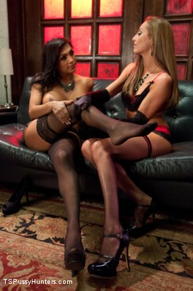 Photo number 2 from Cabaret Girls: one pussy, one cock shot for TS Pussy Hunters on Kink.com. Featuring Roxy Rox  and Jessy Dubai in hardcore BDSM & Fetish porn.