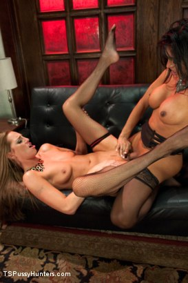 Photo number 7 from Cabaret Girls: one pussy, one cock shot for TS Pussy Hunters on Kink.com. Featuring Roxy Rox  and Jessy Dubai in hardcore BDSM & Fetish porn.