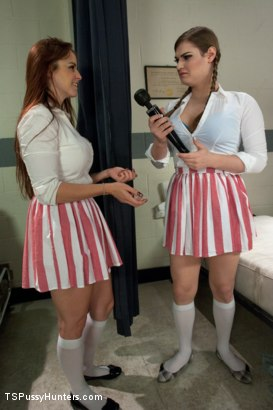 Photo number 1 from Candy Stripers turned Nasty:Shagging in a Hospital w/a Stranger's Vibe shot for TS Pussy Hunters on Kink.com. Featuring Tiffany Starr and Bella Rossi in hardcore BDSM & Fetish porn.