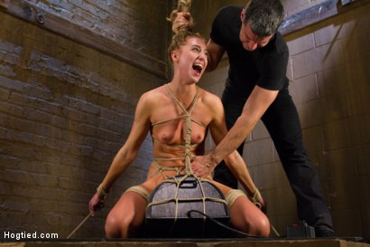 Photo number 12 from Gorgeous Newcomer Destroyed by Bondage and Squirting Orgasms shot for Hogtied on Kink.com. Featuring Roxy Rox in hardcore BDSM & Fetish porn.