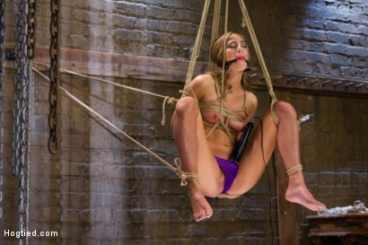 Photo number 3 from Gorgeous Newcomer Destroyed by Bondage and Squirting Orgasms shot for Hogtied on Kink.com. Featuring Roxy Rox in hardcore BDSM & Fetish porn.