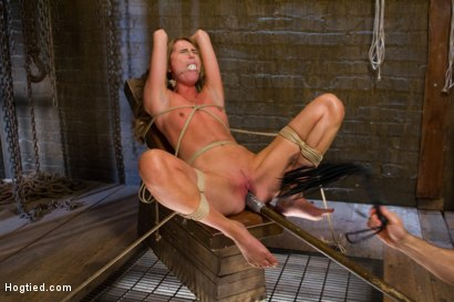 Photo number 6 from Gorgeous Newcomer Destroyed by Bondage and Squirting Orgasms shot for Hogtied on Kink.com. Featuring Roxy Rox in hardcore BDSM & Fetish porn.