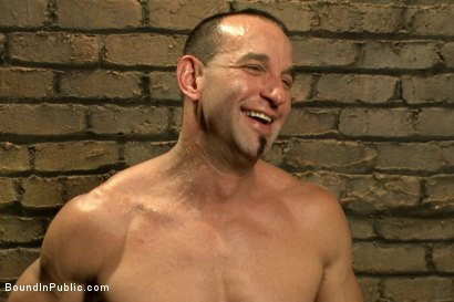 Photo number 15 from Muscled stud with a big dick cattle prodded and gang fucked  shot for Bound in Public on Kink.com. Featuring Christian Wilde, Jason Miller, Connor Maguire and Big Red in hardcore BDSM & Fetish porn.