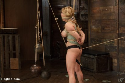 Photo number 8 from Huge Tit Blonde Bondage Slut Destroyed With Overwhelming Orgasms shot for Hogtied on Kink.com. Featuring Carissa Montgomery in hardcore BDSM & Fetish porn.