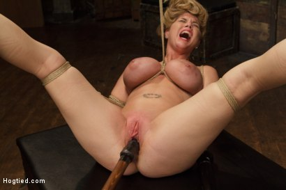Photo number 13 from Huge Tit Blonde Bondage Slut Destroyed With Overwhelming Orgasms shot for Hogtied on Kink.com. Featuring Carissa Montgomery in hardcore BDSM & Fetish porn.