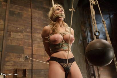 Photo number 6 from Huge Tit Blonde Bondage Slut Destroyed With Overwhelming Orgasms shot for Hogtied on Kink.com. Featuring Carissa Montgomery in hardcore BDSM & Fetish porn.