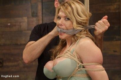 Photo number 2 from Huge Tit Blonde Bondage Slut Destroyed With Overwhelming Orgasms shot for Hogtied on Kink.com. Featuring Carissa Montgomery in hardcore BDSM & Fetish porn.