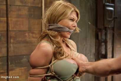 Photo number 5 from Huge Tit Blonde Bondage Slut Destroyed With Overwhelming Orgasms shot for Hogtied on Kink.com. Featuring Carissa Montgomery in hardcore BDSM & Fetish porn.