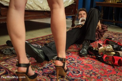 Photo number 4 from Thanksgiving FEMDOM Foot Affair shot for Foot Worship on Kink.com. Featuring Lorelei Lee and James Riker in hardcore BDSM & Fetish porn.