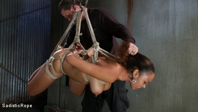 Photo number 11 from Young slut with huge tits is bound and suffering!! shot for Sadistic Rope on Kink.com. Featuring Serena Ali in hardcore BDSM & Fetish porn.