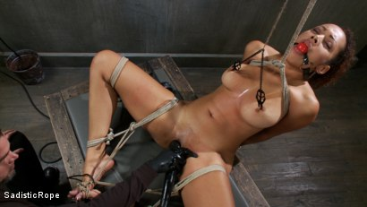 Photo number 4 from Young slut with huge tits is bound and suffering!! shot for Sadistic Rope on Kink.com. Featuring Serena Ali in hardcore BDSM & Fetish porn.