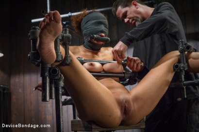 Photo number 5 from Samoan beauty with huge natural tits is tormented and fucked!!! shot for Device Bondage on Kink.com. Featuring Serena Ali in hardcore BDSM & Fetish porn.