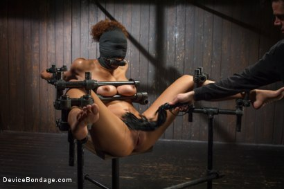 Photo number 6 from Samoan beauty with huge natural tits is tormented and fucked!!! shot for Device Bondage on Kink.com. Featuring Serena Ali in hardcore BDSM & Fetish porn.