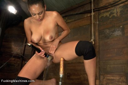 Photo number 14 from Five foot ELEVEN, Big Natural Tits Creamy Dark Skin & Champion Squirter shot for Fucking Machines on Kink.com. Featuring Serena Ali in hardcore BDSM & Fetish porn.