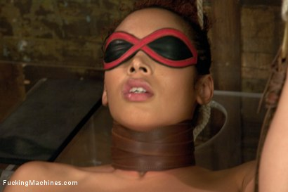 Photo number 12 from Five foot ELEVEN, Big Natural Tits Creamy Dark Skin & Champion Squirter shot for Fucking Machines on Kink.com. Featuring Serena Ali in hardcore BDSM & Fetish porn.