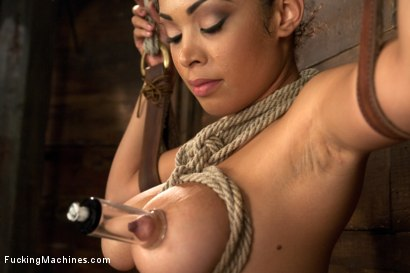Photo number 7 from Five foot ELEVEN, Big Natural Tits Creamy Dark Skin & Champion Squirter shot for Fucking Machines on Kink.com. Featuring Serena Ali in hardcore BDSM & Fetish porn.