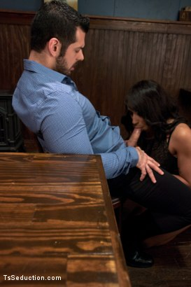 Photo number 4 from Bartender will Help you Forget Ur Troubles by Making you Suck Her Cock shot for TS Seduction on Kink.com. Featuring Honey FoXXX and Marcus Ruhl in hardcore BDSM & Fetish porn.