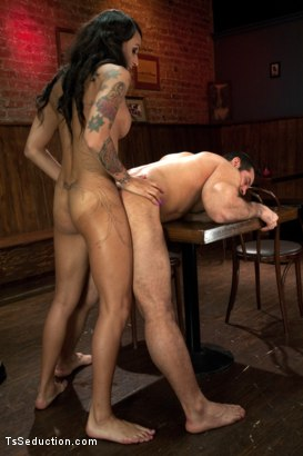 Photo number 13 from Bartender will Help you Forget Ur Troubles by Making you Suck Her Cock shot for TS Seduction on Kink.com. Featuring Honey FoXXX and Marcus Ruhl in hardcore BDSM & Fetish porn.