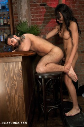 Photo number 9 from Bartender will Help you Forget Ur Troubles by Making you Suck Her Cock shot for TS Seduction on Kink.com. Featuring Honey FoXXX and Marcus Ruhl in hardcore BDSM & Fetish porn.