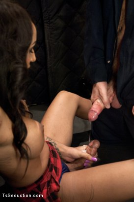 Photo number 5 from Hot Huge Cock Sex in an Elevator with TS Honey FoXXX shot for TS Seduction on Kink.com. Featuring Honey FoXXX and Kip Johnson in hardcore BDSM & Fetish porn.